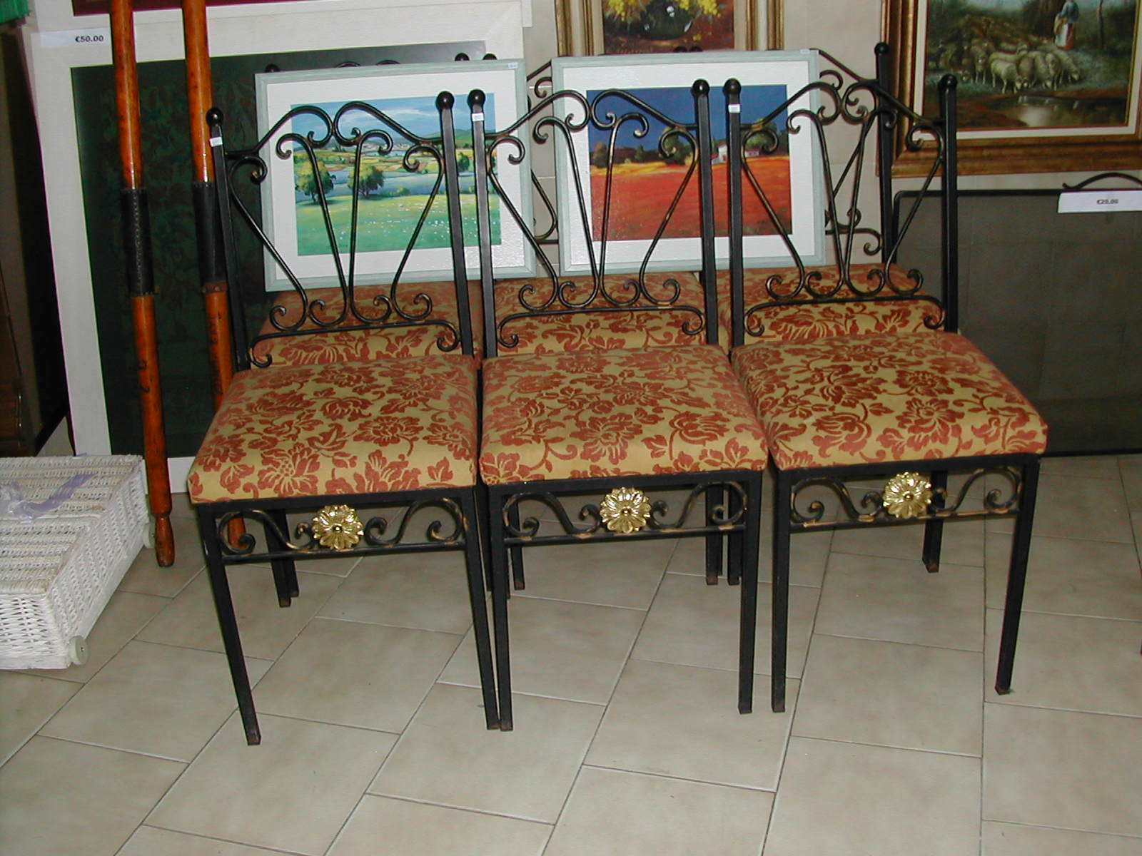 Wrought Iron Dining Chairs. Set Of Six Wrought Iron Dining Chairs ...
