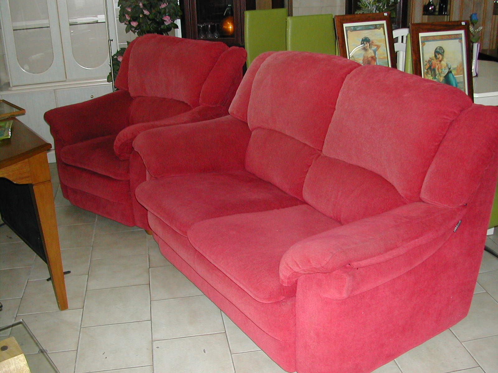 Remarkable Very Comfy Rose Pink 2 Seater Sofa With Matching Chair Gmtry Best Dining Table And Chair Ideas Images Gmtryco