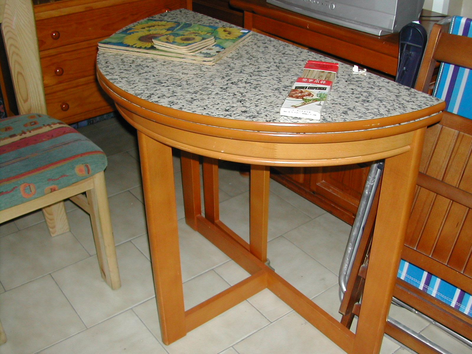Half Moon Kitchen Table Opens Out