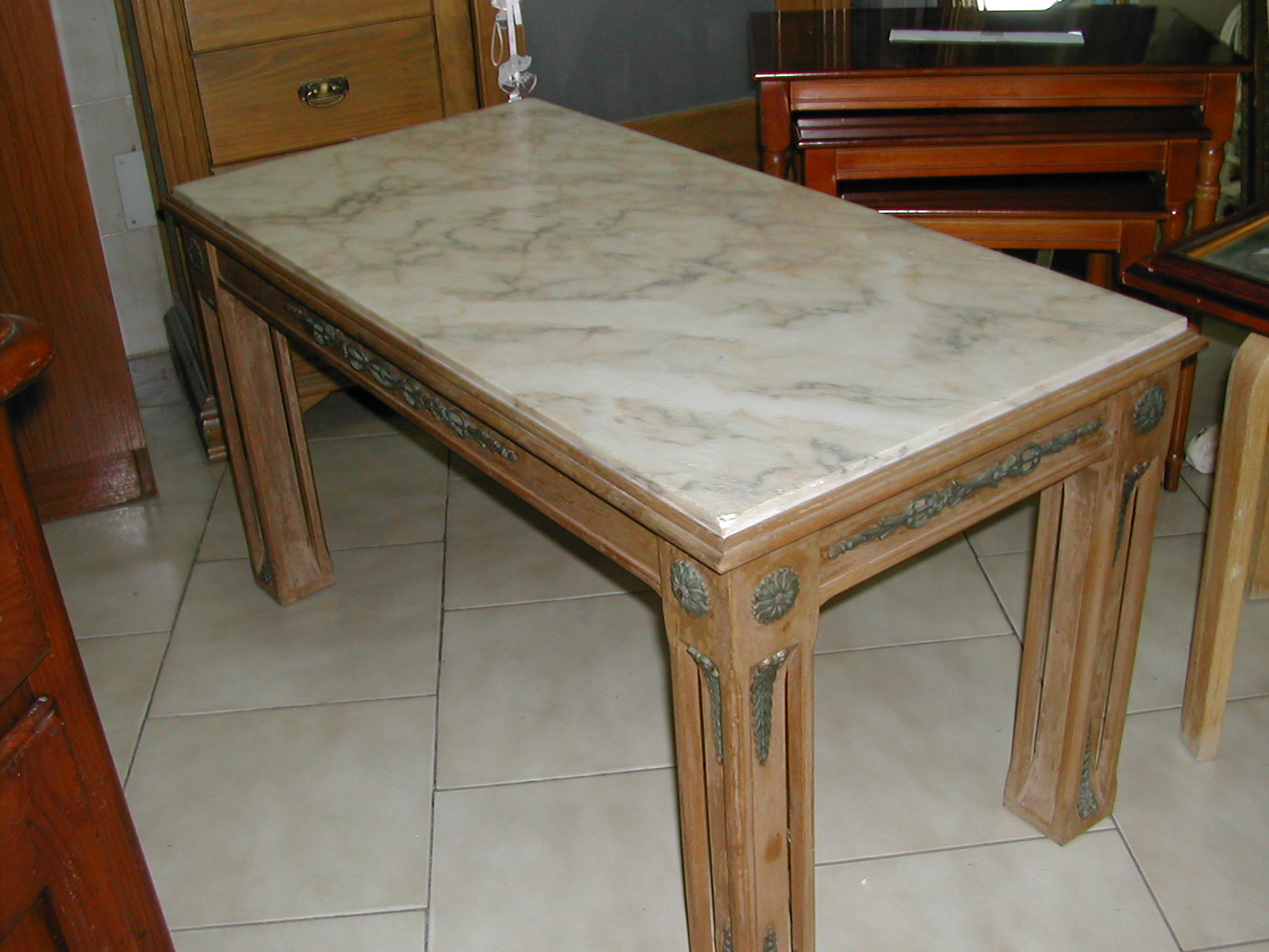 Rustic Marble Top Coffee Table Nerja Household Centre Second